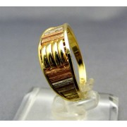 Zlatý prsteň trojfarebné zlato VP52350V
