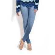 Calca Skinny Cintura Alta Jeans Azul