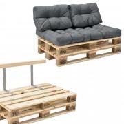 [en.casa]® Paletový interiérový nábytok - model B - svetlo sivý