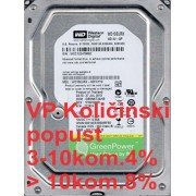 "HDD 3.5"" ** 1TB WD10EURX WD AV-GP Green IntelliPower 64mb SATA3"