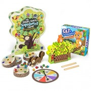 Brybelly Sneaky Snacky Squirrel Game and Cat-tastrophe! Family Board Games Bundle by Educational Insights and Imagination Generation