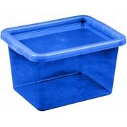 Cutie depozitare cu capac 13 litri albastru inchis