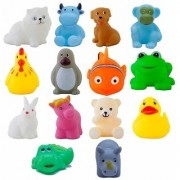 Cute Kids Choice Chu Chu Bath Toys for Baby Non-Toxic Toddler Set Multi Color (1 Set - 12 Pcs) Best Quality Voice