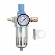 """ZESTAW Regulator z manometrem Odwadniacz Powietrza Filtr REDATS P-720 1/2"""" STD + wtyk + szybkozłączka - 1/2"""""""