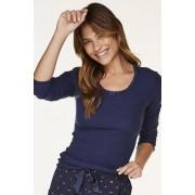 Hunkemöller Pyjama top lange mouwen rib Blauw