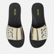 MICHAEL MICHAEL KORS Women's MK Slide Sandals - Pale Gold - UK 4/US 7 - Gold