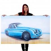 Ölgemälde Oldtimer, 100% handgemaltes Wandbild Gemälde XL, 140x80cm ~ Variantenangebot