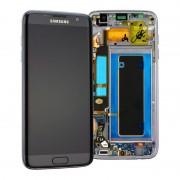 Ecrã LCD GH97-18533A e Estrutura para a Parte da Frente do Samsung Galaxy S7 Edge - Preto