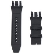 Black Replacement Soft Silicone Rubber Watch Band Strap Kit