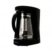 Filtru 2 in 1 pentru cafea/ceai Albatros Dolce, 680 W, cana sticla 1.2 l, maner ergonomic, Negru