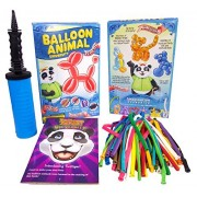 Imagination Overdrive Balloon Animal University PRO Kit 50 Balloons Custom Assortment with Qualatex, Dbl-Action Air Pump, Book, and Online Video Training Series Access. Learn to Make Balloon Animals Kit Starter Set.