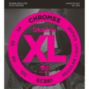 D'Addario ECB81 Chromes Bass Guitar Strings Light 45-100 Long Scale