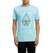 VOLCOM Herren T-Shirt Concentric Double Dye blau S