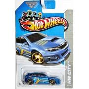 2013 Hot Wheels Hw City - Subaru WRX STI Wheel Variation/Error! - Blue