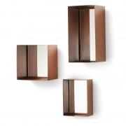 La Forma Spiegel Clifton koperkleurig metaal (set van 3 stuks)