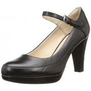 Clarks Women's Kendra Dime Combi Lea Black Leather Pumps - 7 UK/India (41 EU)