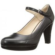 Clarks Women's Kendra Dime Combi Lea Black Leather Pumps - 7 UK/India (41 EU)