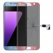 Para Samsung Galaxy S7 Edge / G935 0.3mm 9h La Dureza De La Superficie 3d Curvo De La Pantalla De Seda Pantalla Completa Privacidad Antideslumbrante Protector De Pantalla De Vidrio Templado (Dorado Rosa)