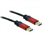 USB 3.0 kábel 5m piros/fekete aranyozott (649856)