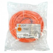 Solight prodlužovací kabel - spojka, 1 zásuvka, oranžová, 20m PS17