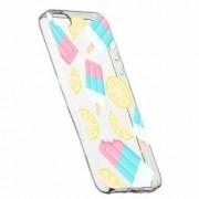 Husa Silicon Transparent Slim Ice-Cream Apple iPhone 5 5S SE