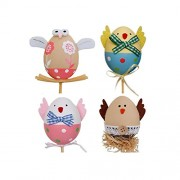Tradico® Easter DIY Hand Painted Eggs Funny Chick Egg Plastic DIY Sticks Kids Gifts Toys