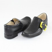 Pantofi copii Marelbo negru, din piele naturală