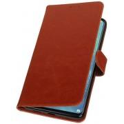 Bruin Pull-Up Booktype Hoesje voor Huawei Mate 20 X