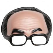Geen Half heren masker met bril