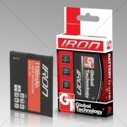 Global Technology Iron - Batterie Pour Téléphone Portable Li-Ion 1200 Mah - Pour Nokia E5-00, N8-00, N97 Mini