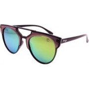Foxy Over-sized Sunglasses(Green)