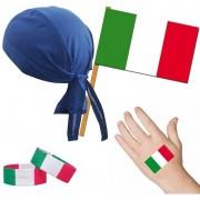 Merkloos Italiaanse fan/supporter verkleed set voor volwassenen