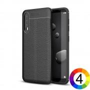 Huawei P20 Pro Удароустойчив Litchi Skin Калъф и Протектор