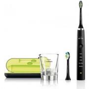 Philips Четка за зъби с акумулаторна батерия Sonicare Diamond Clean 5 режима, 2 глави, зареждаща чаша, USB зарядно цвят черен