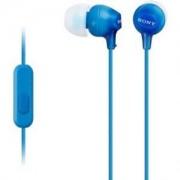 Слушалки Sony Headset MDR-EX15AP blue - MDREX15APLI.CE7