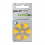 Power One 60 Batterie 10 / Pr70 Per Protesi Acustiche