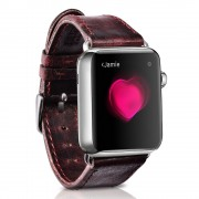 ICARER Classic Genuine Leather Strap for Apple Watch Series 4 44mm / Series 3 / 2 / 1 42mm - Wine Red