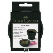 Pahar pentru pictura Click&Go, Faber-Castell verde-inchis