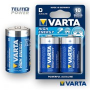 HIGH ENERGY LR20 VARTA (blister) alkalna