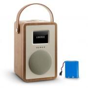NUMAN Mini Two Design Internet Radio WiFi DLNA Bluetooth FM walnut incl. Battery