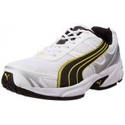 Puma Men's White, Black, Blazing Yellow and Puma Silver Running Shoes - 9 UK/India (43 EU)