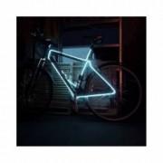 Kit Luminos pentru Tuning de Bicicleta cu Fir El Wire Culoare Alb