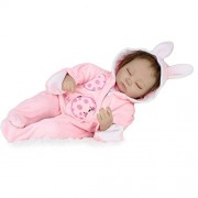 Dollshow 17inch Eco-friendly Real Look Reborn Baby Sleeping Girl Doll without Pillow Collectible Gifts