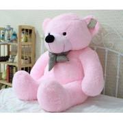 5 Feet Pink Big Smile Bow Teddy Bear
