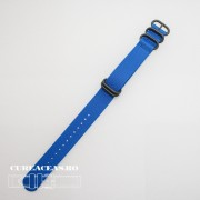 Curea NATO albastra 22mm catarame zulu negre -52977