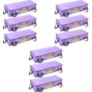 Pretty Krafts Blanket Cover with Side Handles Long Underbed Storage Bag, Storage Organizer, F1523N_Purple9(Purple)
