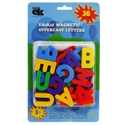 ABC Capital Magnets - 36 Uppercase Alphabet Magnetic Letters by EduKid Toys