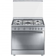 SMEG Sx91sv9 Cucina 90x60 5 Fuochi A Gas Forno Elettrico Ventilato 115 Litri 6 F