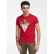 Guess T-Shirt Logo Voorkant - Rood - Size: Extra Large