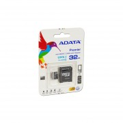 Memoria ADATA Premier MicroSDHC UHS-1 De 32 GB, Clase 10, Incluye Adaptador SD. AUSDH32GUICL10-RA1